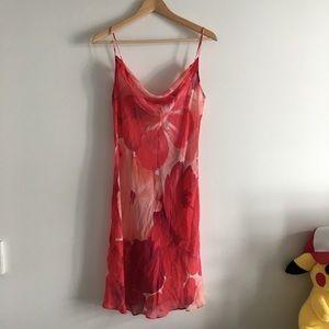 Victoria's Secret 100% Silk Floral Slip Low back